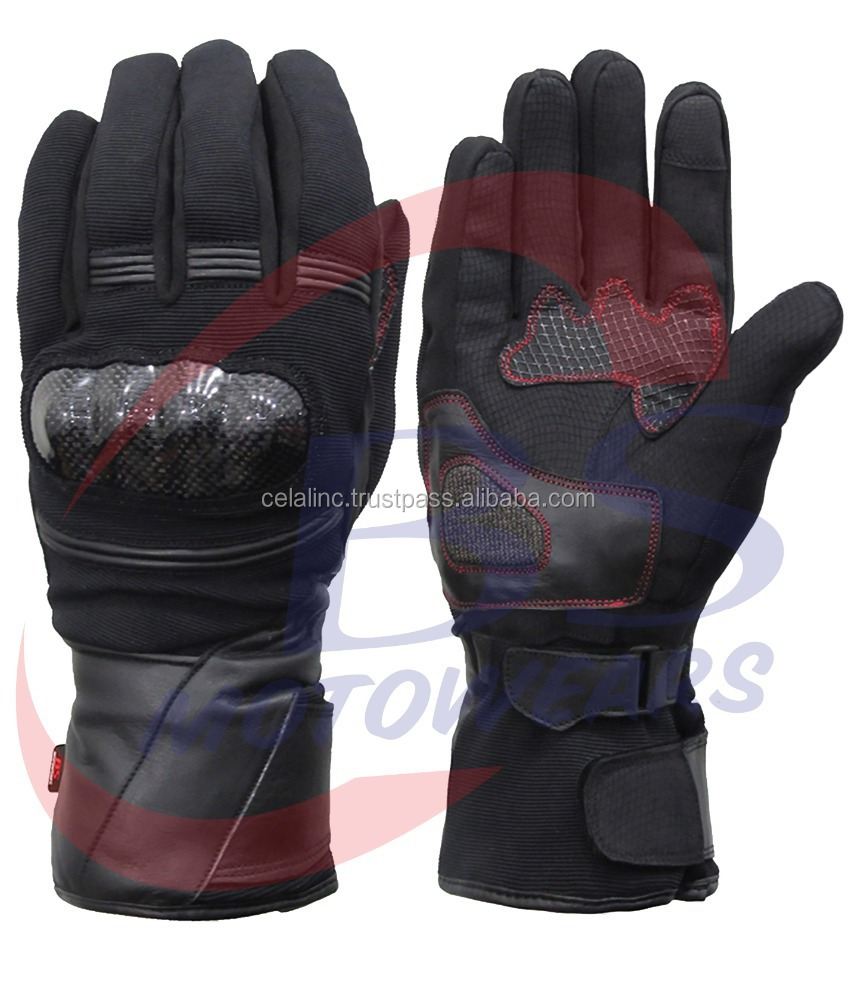 Custom Motorcycle Gloves with Safety Riders Top Quality