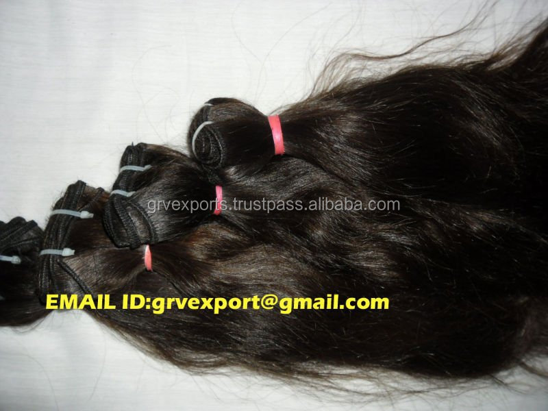 wholesale price High quality indian wavy hair extensions directly from india
