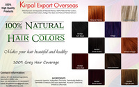 Herbal Hair Colors-Free Hair Dye Sample