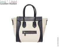 Tote shopping bag with side extensions (big) handbags italian bags genuine leather florence leather fashion