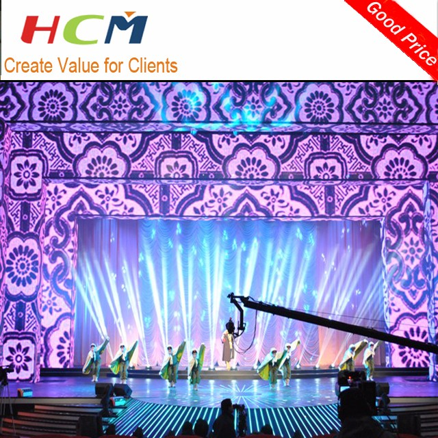 Indoor full color dispaly P3 P4 ultra thin LED video wall panel