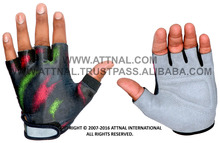 Weight Lifting Gloves Combination of Amara Leather and Lycra Fabric