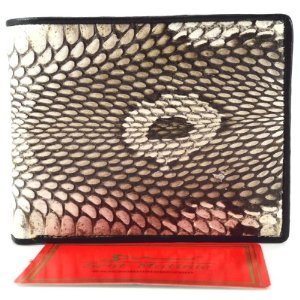 FREE SHIPPING...*BEST QUALITY MEN'S WALLET !! BEAUTIFUL GENUINE COBRA HOOD BI FOLD WALLET