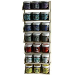 Display Rack - Herbal Resin Incense - Chakra Line - Export from NY, USA - FREE Samples - No minimum order - Made by Yogis