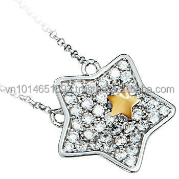 High Quality Zirconia Star Silver Jewelry Set - PNJ brand - Vietnam