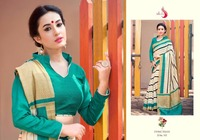 Simple design cotton saree - Casual wear pattern saree - India clothing factory price