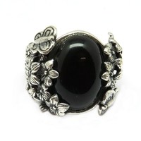 Black Onyx 925 Sterling Silver Jewelry Ring, 925 Silver Jewelry, Beautiful Silver Jewelry
