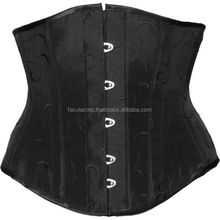 2016 BLACK TAFFETA STEEL-BONE CORSET BY SLACKS FASHION GOTHIC BLACK COTTON CORSET TOP WITH VINTAGE FC-3506