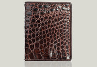 VLA1600D-CL-CF Men's genuine 100% crocodile leather in both sides card holder men crocodile wallet