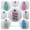 Beach Dress Poncho Tops Cover Up Cotton Kaftans Beach Wear