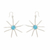 Attractive Looking silver Earring and Stylish Earring with Blue Topaz Gemstone Solid 925Sterling Silver Earring Jewelry SHER0175