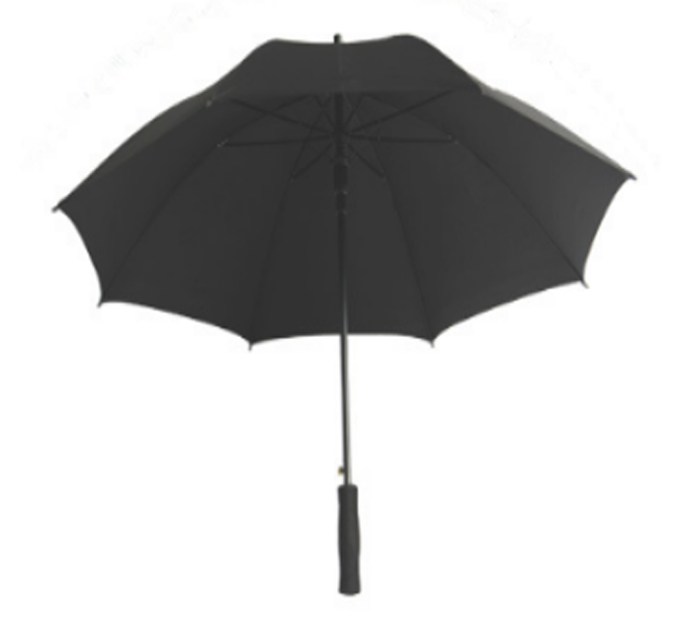 Black Straight Umbrella