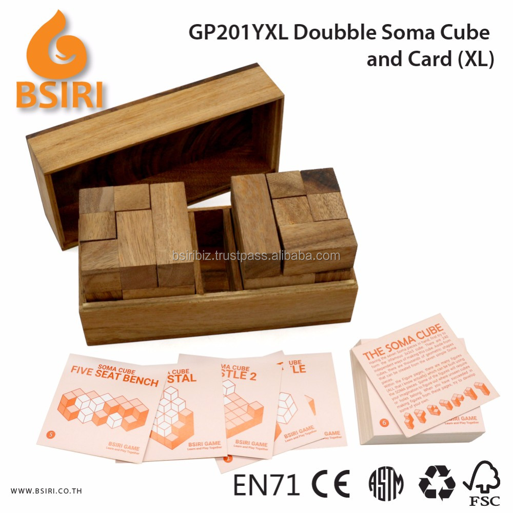 Doubble Soma and Card Wooden Puzzles for Sale