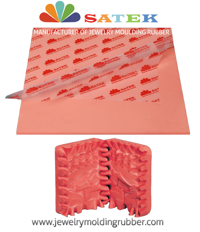 Satek Pink Silicone Jewelry Molding Rubber