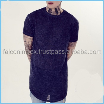 2016 new custom unisex 2015 wholesale wide neck men extended t shirt