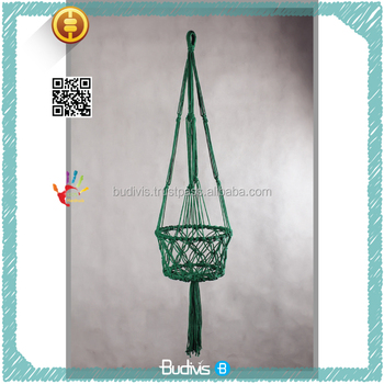 Top Selling DIY ECO Friendly Decorative Macrame Pot Planter Hanging Basket Cotton Rope