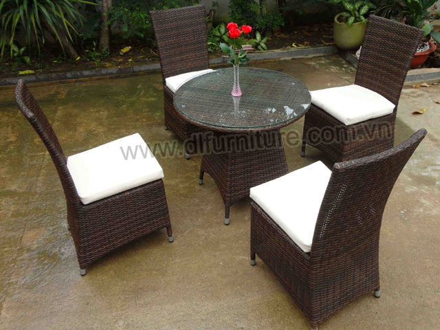 New style 2016 poly rattan furniture dining sets