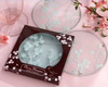 Exotic Cherry Blossom Glass Coasters( 2pcs/set)