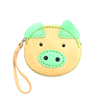 Genuine Leather Piggy Coin Purse Fair Trade - Green