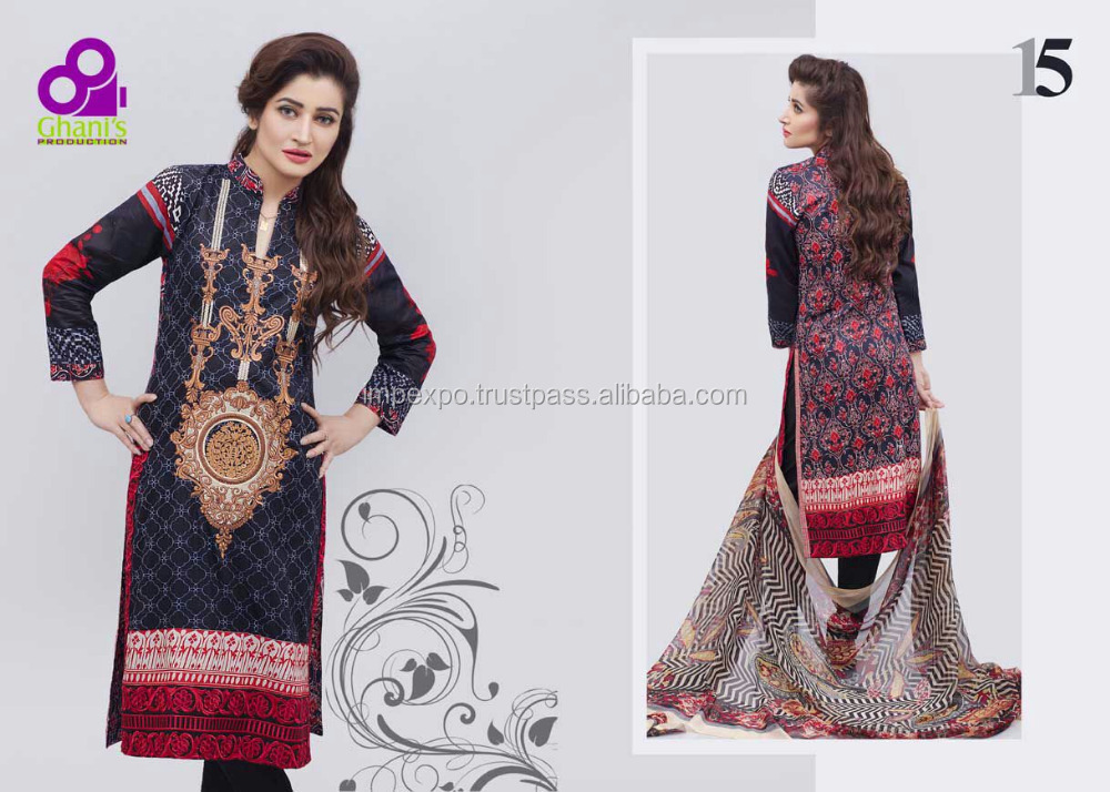 Pakistani wholesale salwar kameez / pakistan lawn suit price
