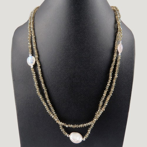 Lovely Night !! Multistone 925 Sterling Silver Necklace, Exclusive Designs Silver Jewellery, Discounted Silver Jewellery
