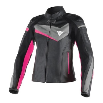 Women Veloster Leather Motorcycle Jacket