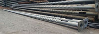 10m cheap outdoor HDG galvanised twisted spiral mild steel decorative lighting pole mast