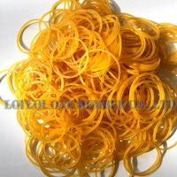 50mm Nature Color Office Rubber Band for tie money / 2017 High quality best selling Yellow Color pure elastic rubber bands good