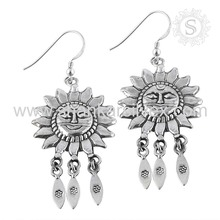 Best Sun Design Indian Plain Silver Earring Jewelry Wholesaler 925 Silver Earring Jewelry