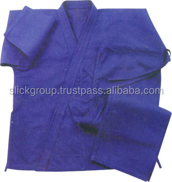 Karate Uniform blue color made of polyester / cotton Buy From Advance Fight Gear