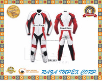 Newest stylish Men Leather Motorbike Suit Batman Style Black, White, Red contrast All Sizes Available