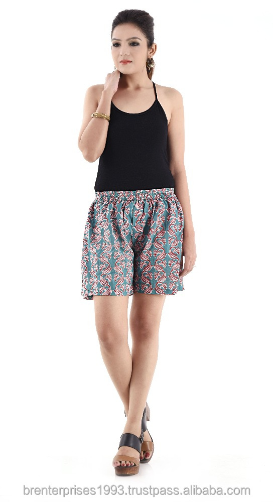 women's seersucker shorts embroidered wholesale pants