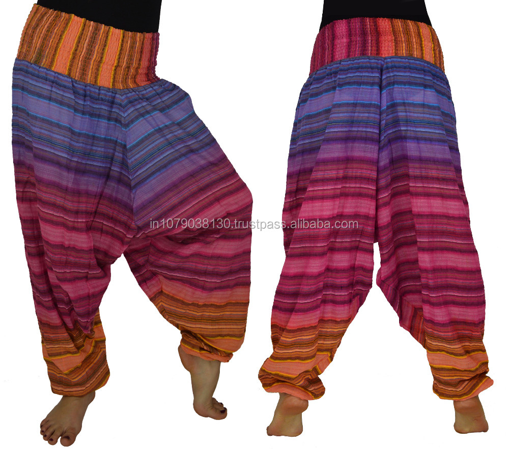 Striped Afghani Harem Pant Striped Cotton Trouser