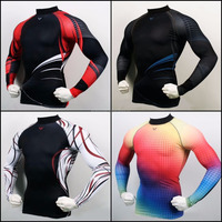 Men's Compression Long sleeve_Skintight_Sportswear_Rash guard /Gym sports rush guard for game