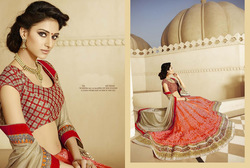 Scintillating Designer Red Bridal Lehenga