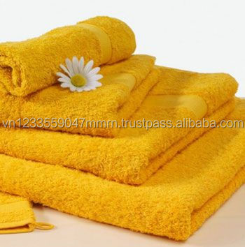 Yellow Bath Towels Set Luxury Hotel-Cheap price