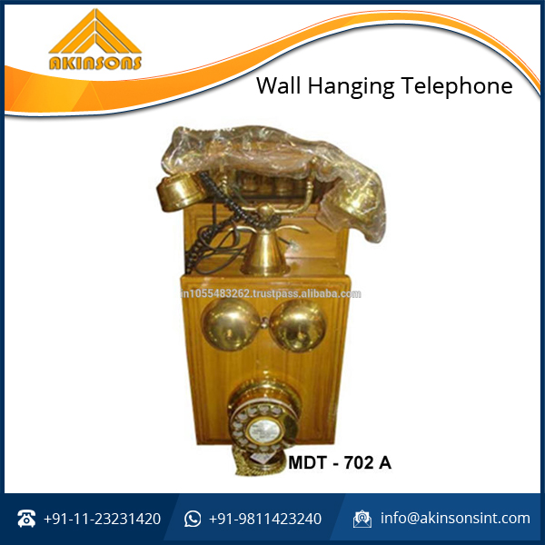 Brass Wood Wall Hanging Telephone for Bulk Buyer