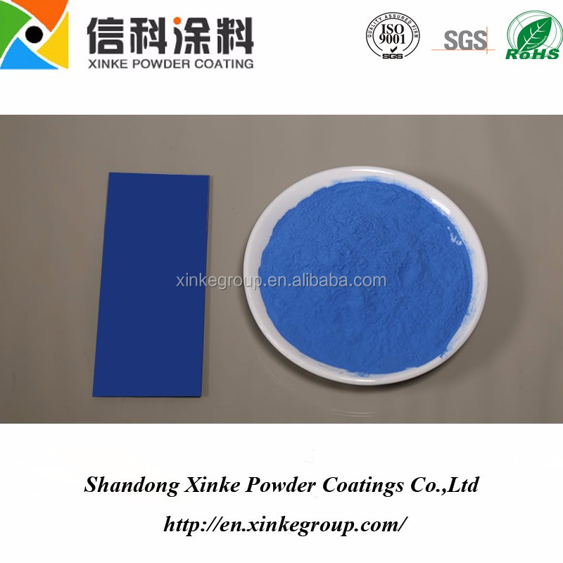blue powder coating for ourdoor use