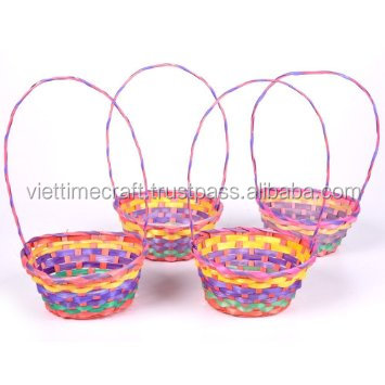 Colorful bamboo gift basket / New design handicrafts from natural bamboo