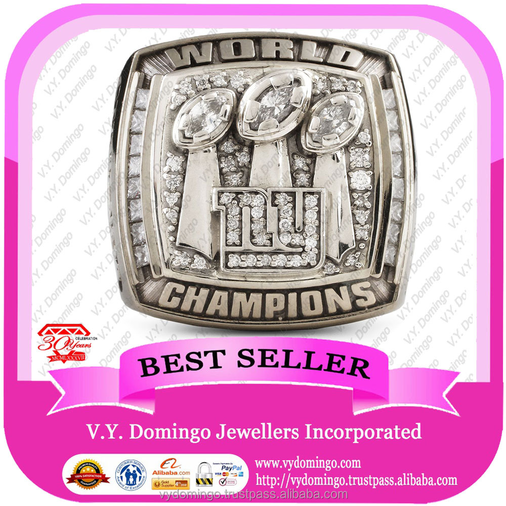 NY Giants Cheap Customize world Championship Superbowl ring 2007 replica