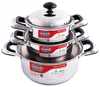SUNHOUSE SH333 HIGH QUALITY 3-PLY BOTTOM STAINLESS STEEL COOKWARE SET 3 PCS (16/20/24CM)