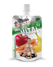100% NATURAL, Fruit mousse, purre, snack, perfect for KIDS, doypack 100g