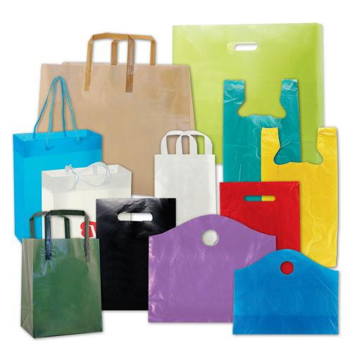 Custom Printed Plastic Shopping Bags Wholesale Direct Manufacturer & Supplier