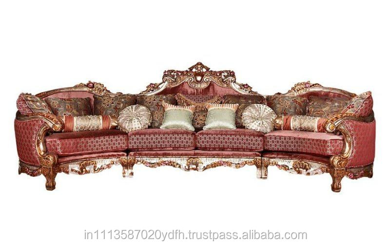 ROYAL antique carved wooden sofa