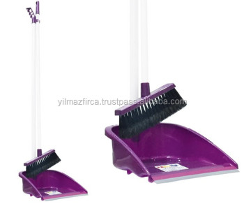 New Dustpan and Brush Set with Handle - Fast Selling Item