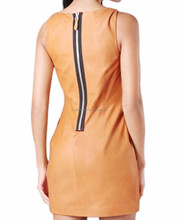 OEM Customized Women PU Leather Bodycon Midi Dress Zip Up Fashion Dress Fat Women Clothes