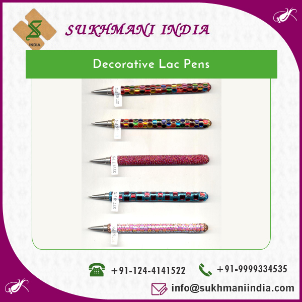 Quality Assured Strong Grip Eye Catching Look Decorative Pen in Lac