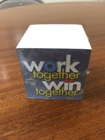 Work Together Win Together Theme Sticky Notecube