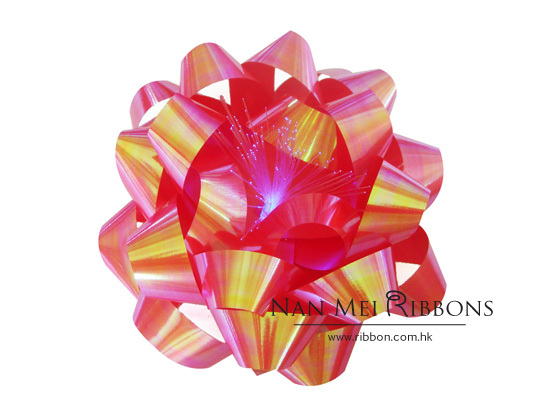 "Flashing Bow LED Iridescent 7"" SB Decoration Gift Wrapping"