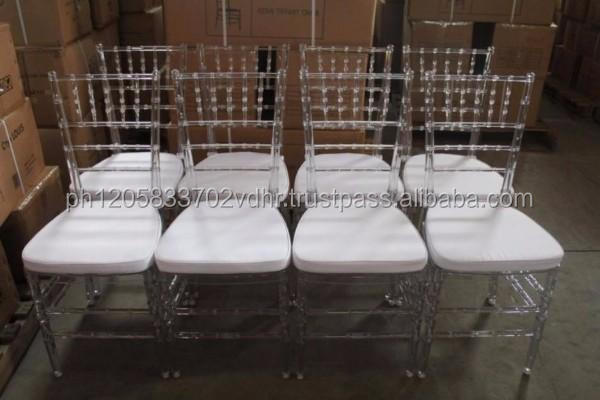 2017 tifanny chairs amber resin chiavari chair